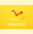 molecule isometric icon isolated on color vector image