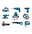 electric tools set vector image