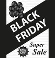black friday flyers templates for your poster vector image