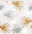 abstract tropical foliage background in retro vector image vector image