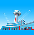 airport aircraft airplane control tower terminal vector image