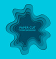 background with deep blue color paper cut layered vector image