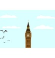 Big Ben Blue Skies vector image vector image