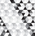 black triangle pattern background vector image vector image