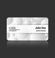 Business card craters vector image