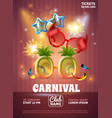 carnival realistic poster vector image vector image