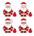 christmas flat santa claus vector image vector image