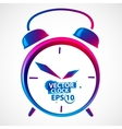 Classic alarm clock vector image vector image
