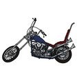 classic blue chopper vector image vector image