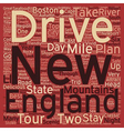 Classic Drives New England Tour text background vector image vector image