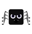 cute halloween spider cartoon character vector image vector image