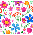 cute pattern in small flower vector image