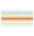 cyborg head shape halftone spectrum pattern vector image