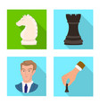 design of checkmate and thin sign set of vector image