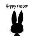 easter greeting card template hoppy vector image