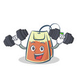 fitness tea bag character cartoon vector image vector image