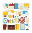 Flat Style Collection of Business Workplace and vector image