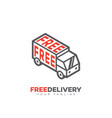 free delivery service logo vector image vector image