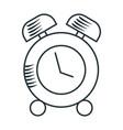 handdraw icon alarm clock vector image