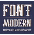 handy crafted modern label font On dark vector image vector image