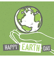 Happy Earth Day Design for Earth Day Concept vector image
