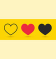 heart symbols love icons set valentines day signs vector image