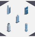 isometric skyscraper set of apartment building vector image