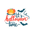 its a happy halloween party time with scary vector image vector image