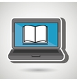 laptop with book isolated icon design vector image vector image