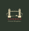 london bridge logo english architectural landmark vector image