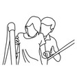 male physical therapist assisting disable woman vector image vector image