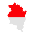 Map and flag of Vorarlberg vector image vector image