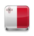 Metal icon of Malta vector image vector image