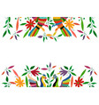 mexican traditional textile embroidery style from vector image vector image