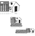 Mortgage calculator vector image