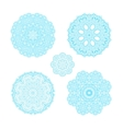 Ornament round set with blue mandala vector image