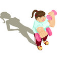 overweight girl exercising vector image