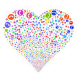 phone number fireworks heart vector image vector image