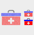 pixel medical case icons vector image vector image