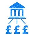 Pound Bank Scheme Grainy Texture Icon vector image vector image