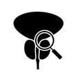prostate exam check glyph icon vector image vector image