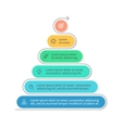 Pyramid for infographics Chart diagram with 6 vector image vector image