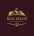 real estate logo key vector image vector image
