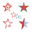 red star logo concept elegant lightning symbol vector image
