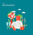 restaurant services flat style design vector image
