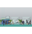 School concept banner Interior pupils vector image