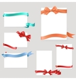 set paper form with satin ribbons and bows vector image vector image