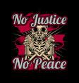 skull holding spray paint graffiti no justice no vector image