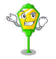 successful lamp post in isolated on mascot vector image vector image