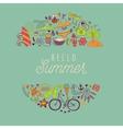 summer beach hand drawn travel vacation vector image vector image